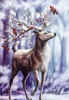 Сказочный зимний олень